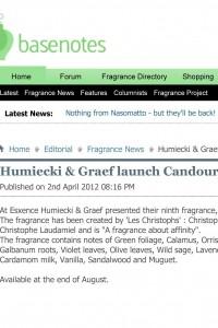 Basenotes - Humiecki & Graef launch Candour at Esxence